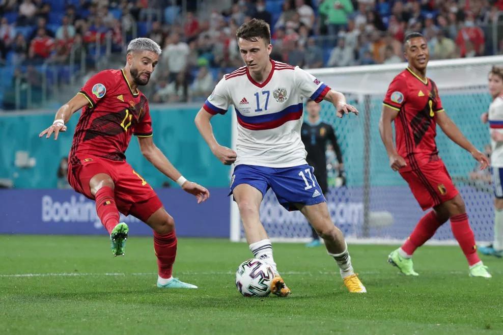 Сборная России крупно проиграла Бельгии на Евро-2020