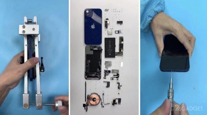 Представлено первое видео полной разборки iPhone 12 (2 фото + видео)