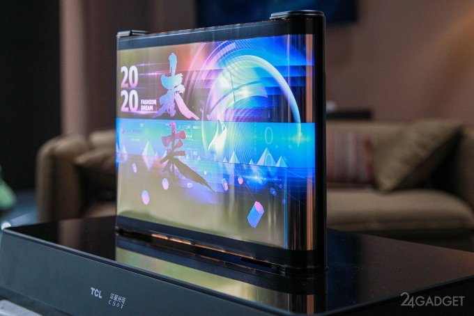 TCL продемонстрировала две концепции гибкого расширяемого дисплея (4 фото)