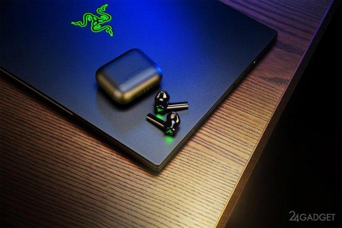 Беспроводные наушники Razer Hammerhead True Wireless X для геймеров, оснащенные подсветкой, с 28 часами автономной работы по цене 80 долларов (4 фото)