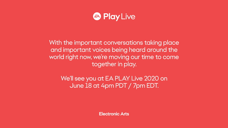 Black Lives Matter: EA Play Live 2020 и Steam Game Festival были перенесены на неделю из-за протестов