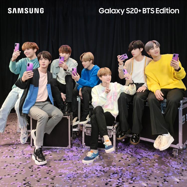 Samsung анонсировала смартфон Galaxy S20+ и наушники Galaxy Buds+ BTS Edition