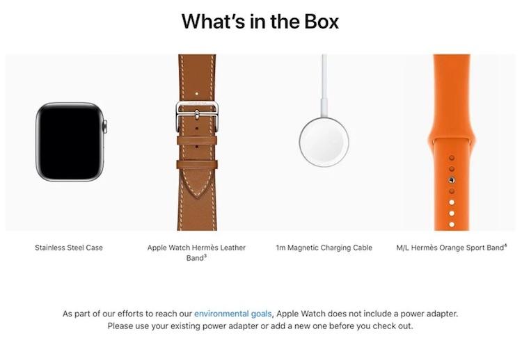 Apple убрала адаптер питания из комплектов дорогих версий Apple Watch