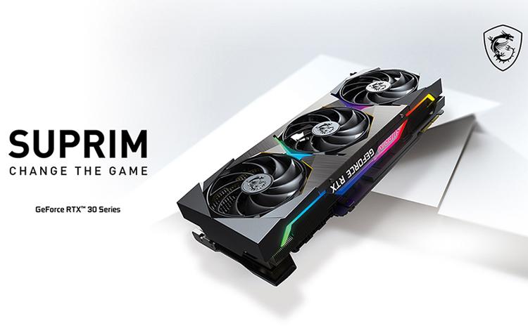 MSI представила видеокарты премиум-класса Suprim GeForce RTX 30-й серии с кулером Tri Frozr 2S