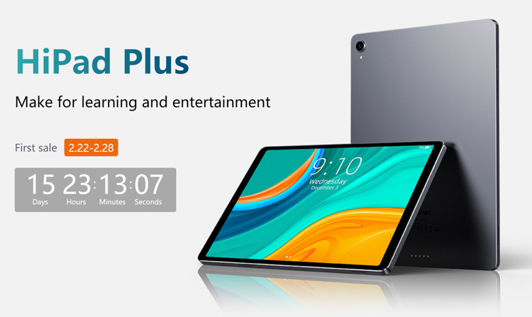 CHUWI представила Android-планшет Hipad Plus с 11-дюймовым 2K-дисплеем