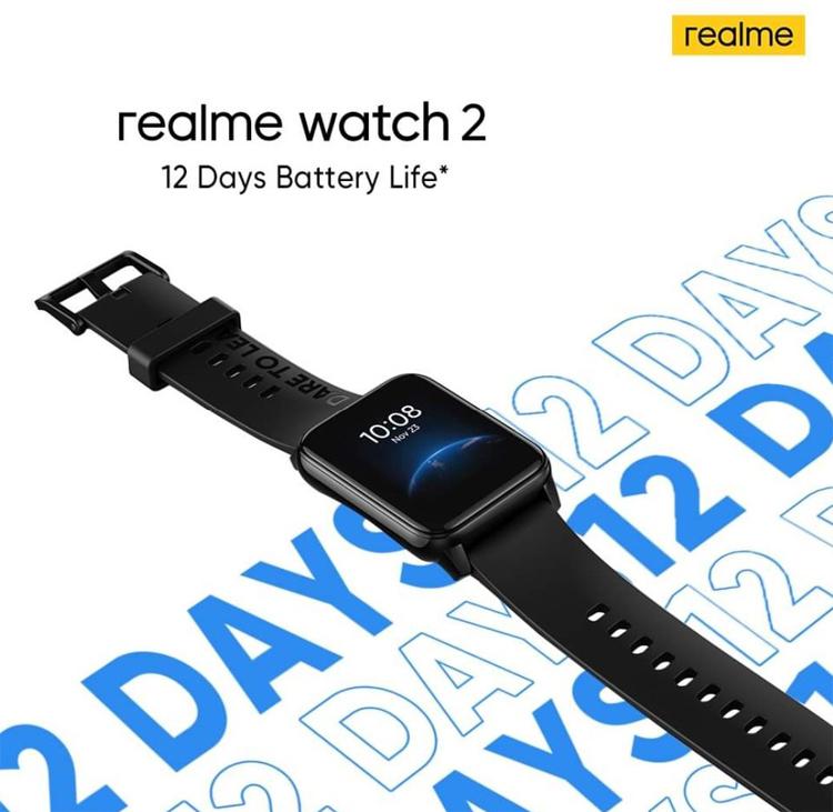 Часы Realme Watch 2 смогут отслеживать ЧСС, уровень содержания кислорода в крови и качество сна