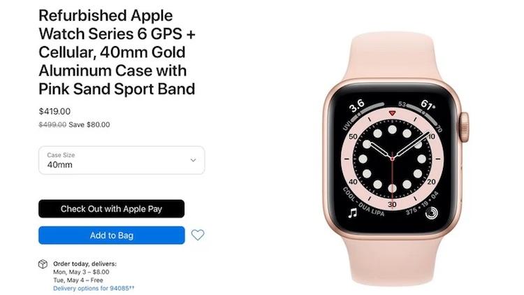 Apple начала продавать восстановленные новейшие Watch Series 6 и Watch SE