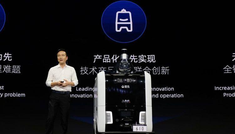 На дорогах Китая появится тысяча роботов-курьеров от подразделения Alibaba