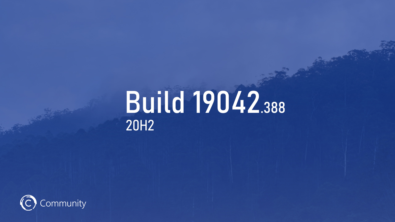 Анонс Windows 10 Insider Preview Build 19042.388 (канал Beta)