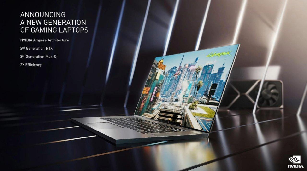 NVIDIA представила мобильные графические процессоры серии RTX 3000