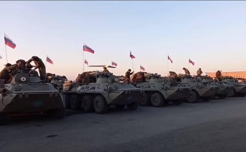 Минобороны завершило развёртывание миротворческого контингента в Нагорном Карабахе