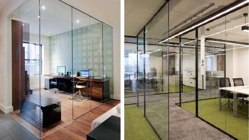 Перегородки из стекла — дизайнерские элементы в интерьере