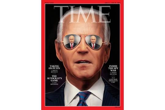 Журнал Time поместил на обложку Байдена с Путиным «в глазах»