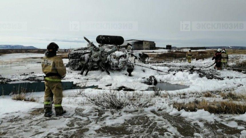 Крушение вертолета МИ-8 на Чукотке: военная машина рухнула сразу после взлета