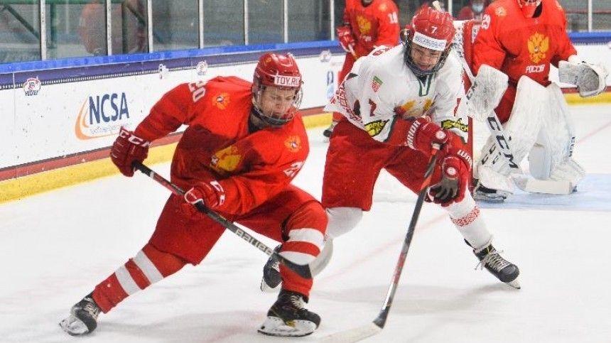 Юниорская сборная России по хоккею разгромила Белоруссию на ЧМ и ждет Финляндию
