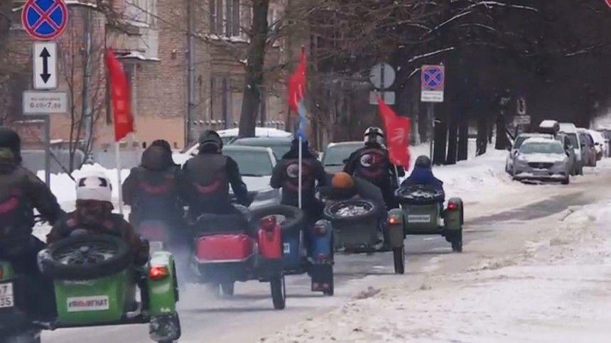 «Ночные волки» устроили мотопробег по рубежу обороны блокадного Ленинграда