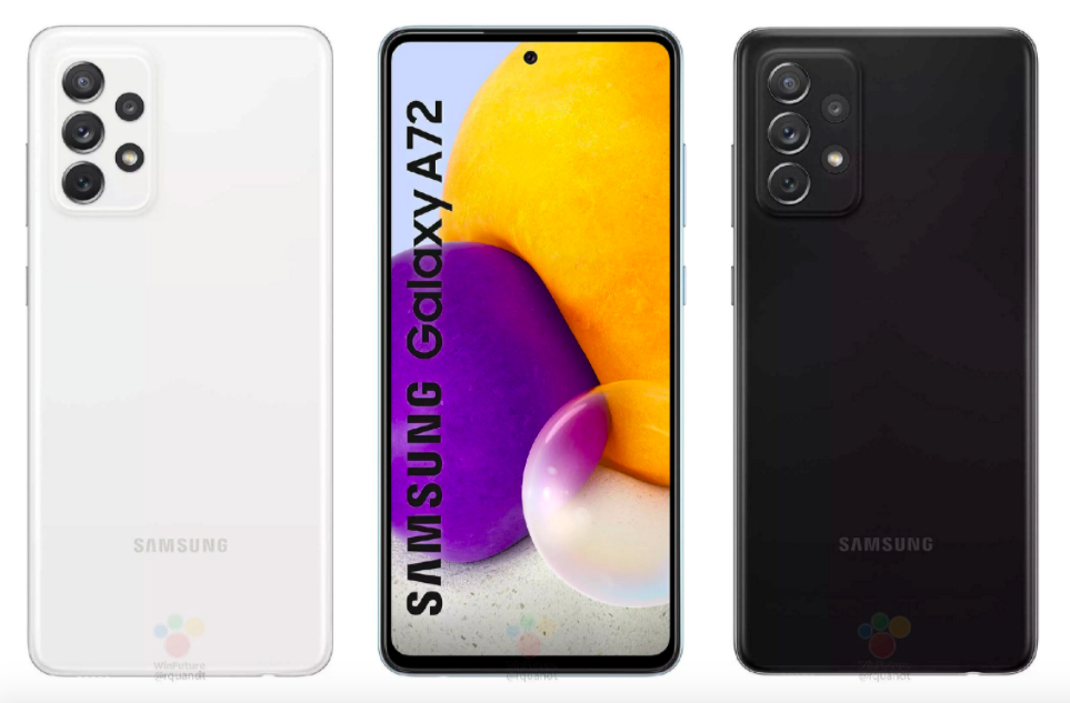 Грядущий смартфон Samsung Galaxy A72 рассекречен полностью