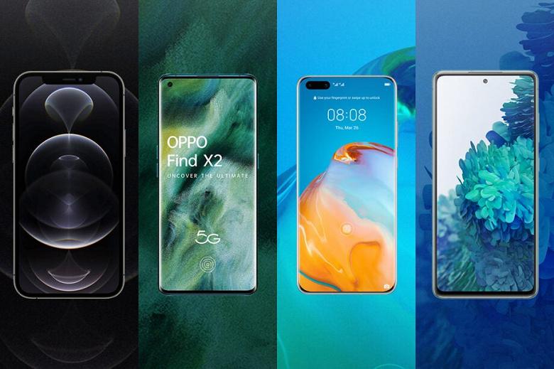 Samsung — лидер рынка, Apple — лидер сегмента 5G, а Xiaomi — лидер по росту. Появился прогноз по рынку смартфонов на 2021 год
