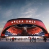 Строители установили первую металлическую конструкцию крыши «Арены Омск»