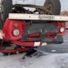 Появилось видео момента аварии с пожарной машиной в Омске