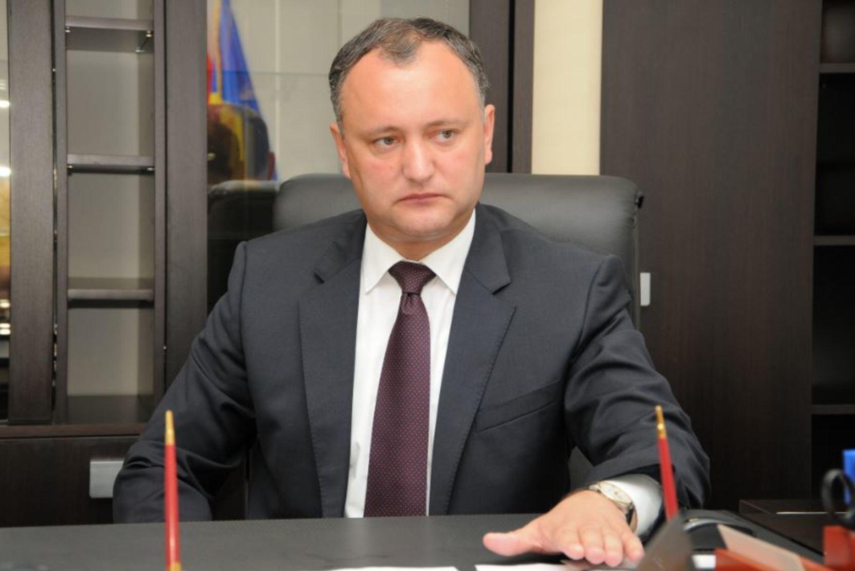 Додон считает ошибкой заявление Санду о выводе миротворцев РФ из Приднестровья