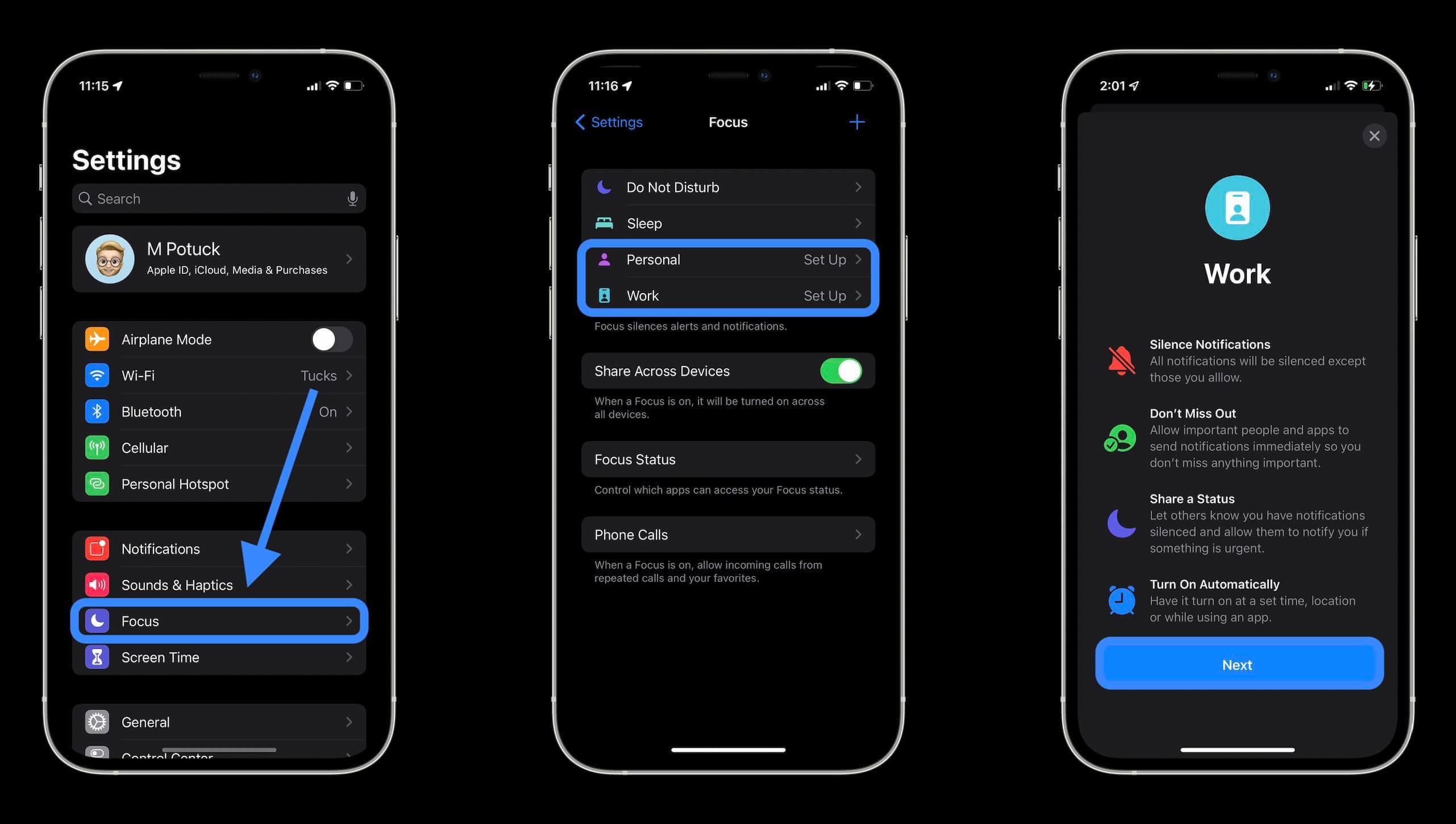 Как работает режим Фокус в iOS 15 и зачем он нужен