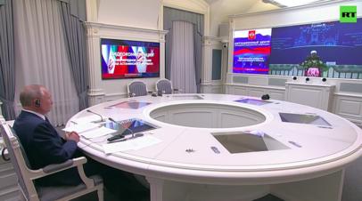 Владимир Путин провёл видеоконференцию с лидерами Ирана и Турции