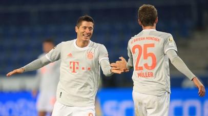 Дубли Левандовски и Мюллера принесли «Баварии» победу над «Арминией» в Бундеслиге