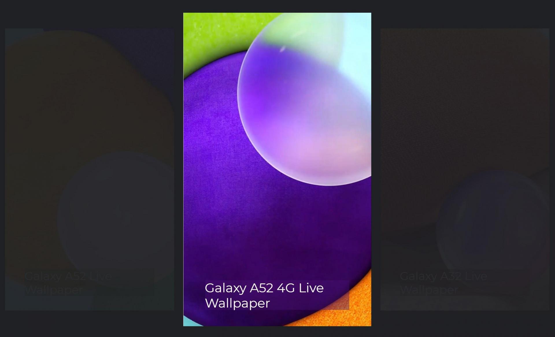 Живые обои со смартфонов Samsung Galaxy A82, A72, A52 доступны для скачивания