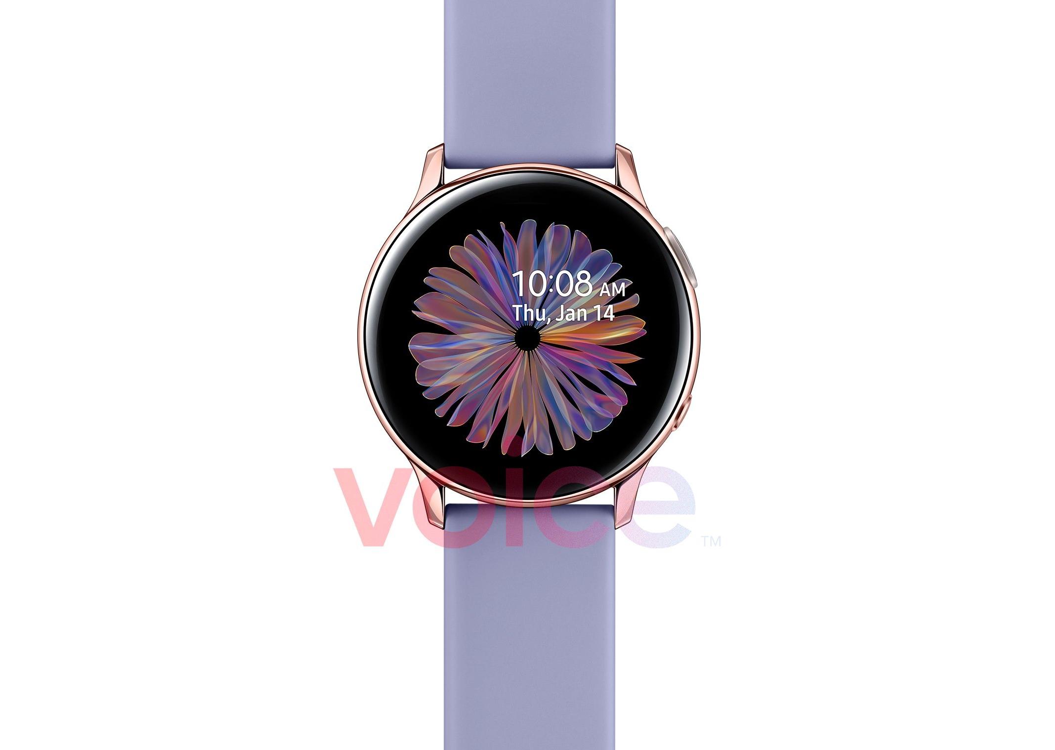 Не только Galaxy S21 и Galaxy Buds Pro: Samsung 14 января покажет ещё смарт-часы Galaxy Watch Active 2 в расцветке Rose Gold