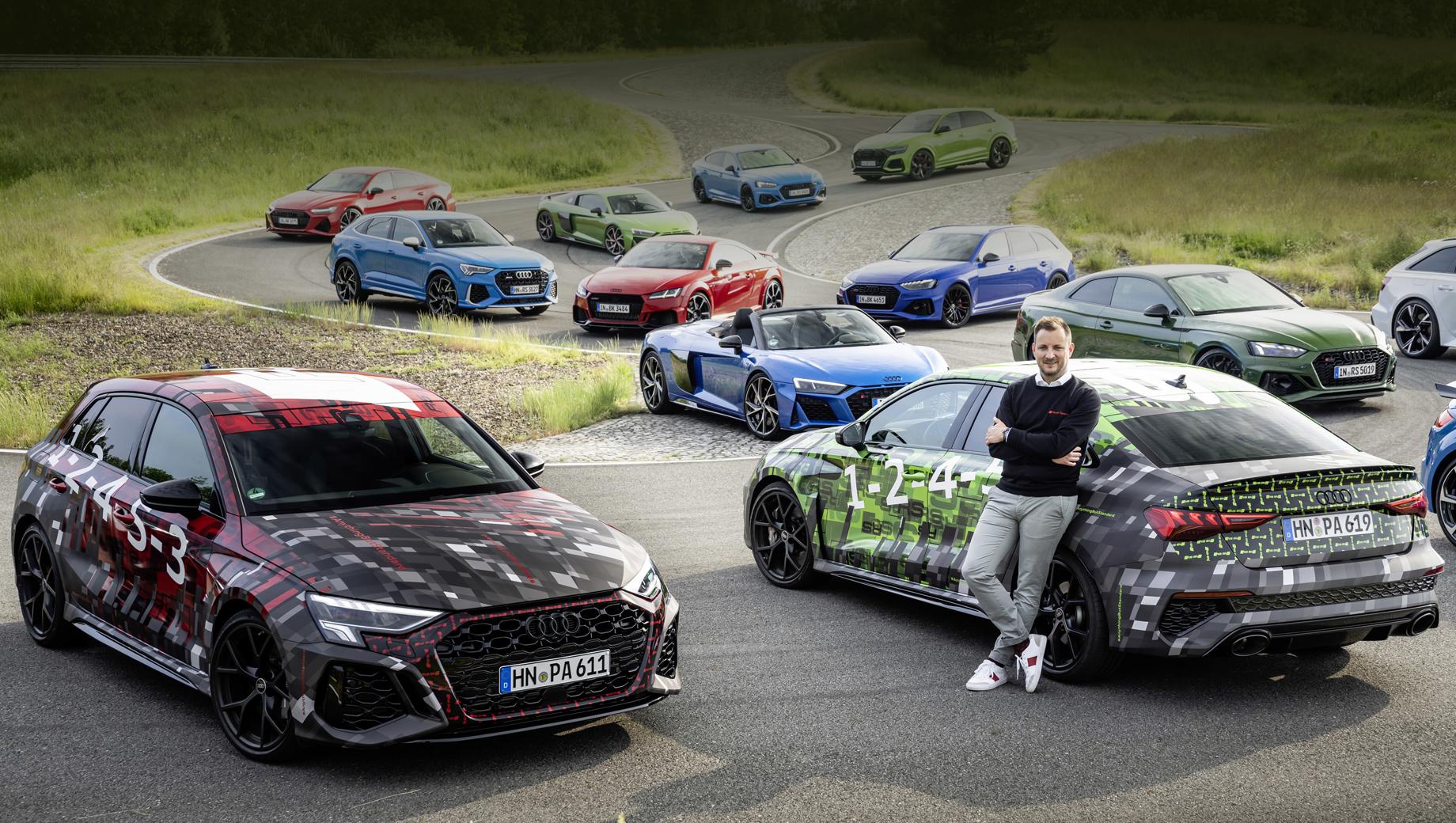 Audi RS 3 и RS3 Sportback показались в скромном камуфляже