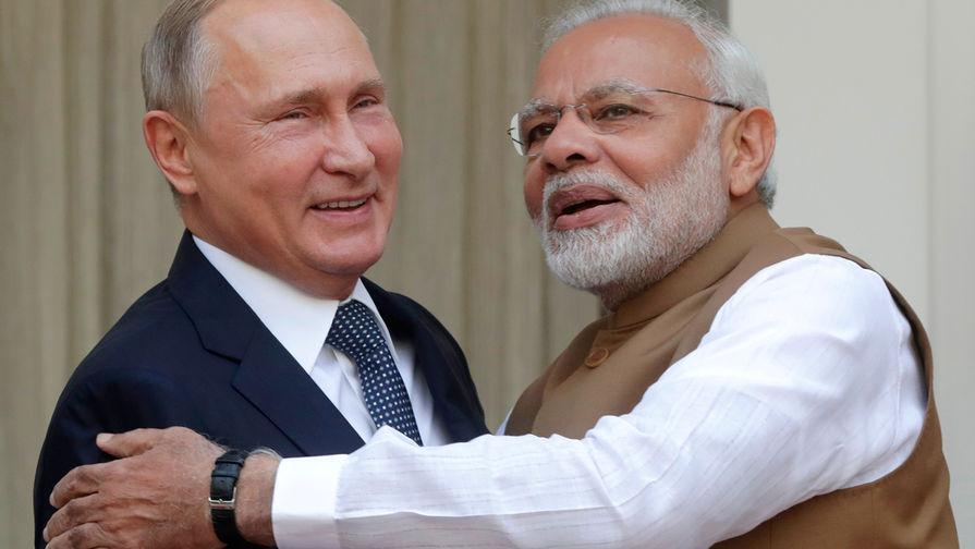 Путин поздравил премьера Индии с юбилеем