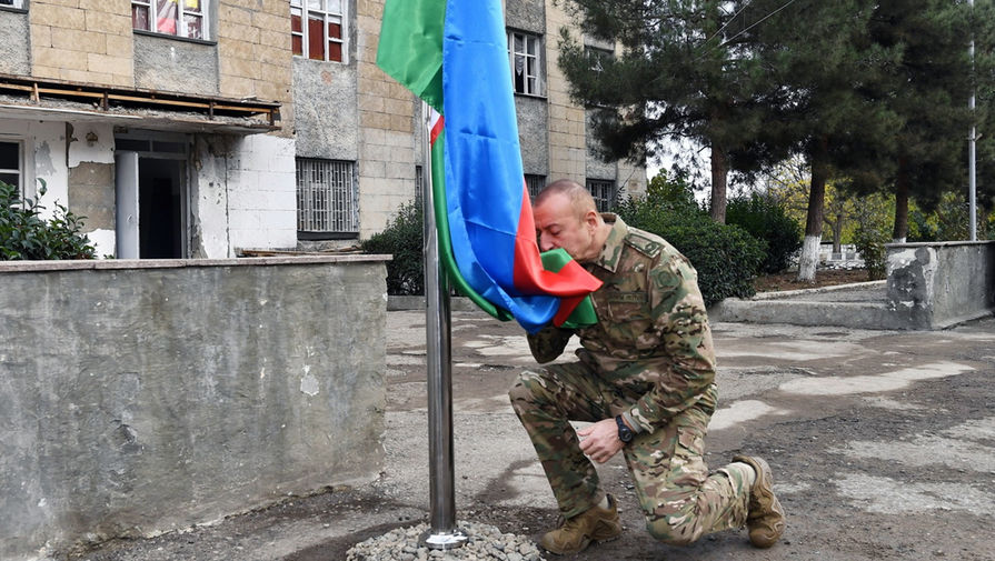 Алиев заявил, что в Карабахе на стороне Армении воевали наемники