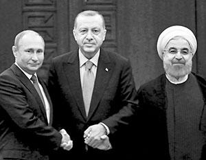 Путин, Роухани и Эрдоган начали видеосаммит по Сирии