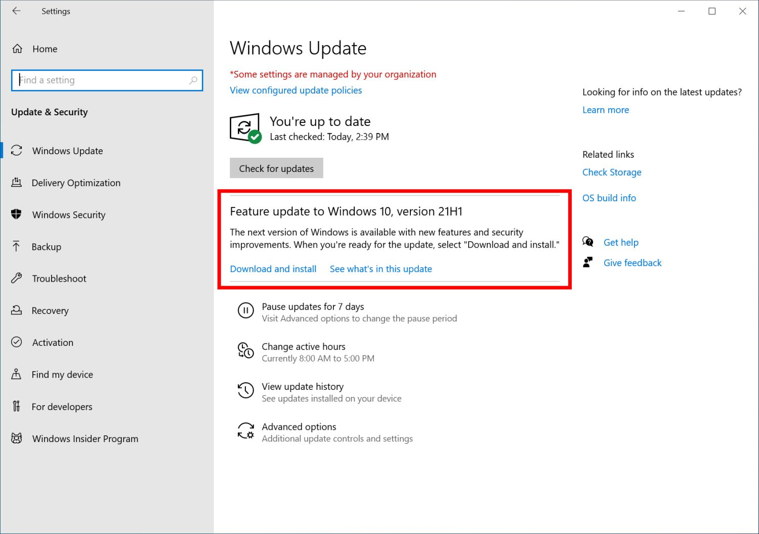 Windows 10 May 2021 Update (версия 21H1) готов к релизу