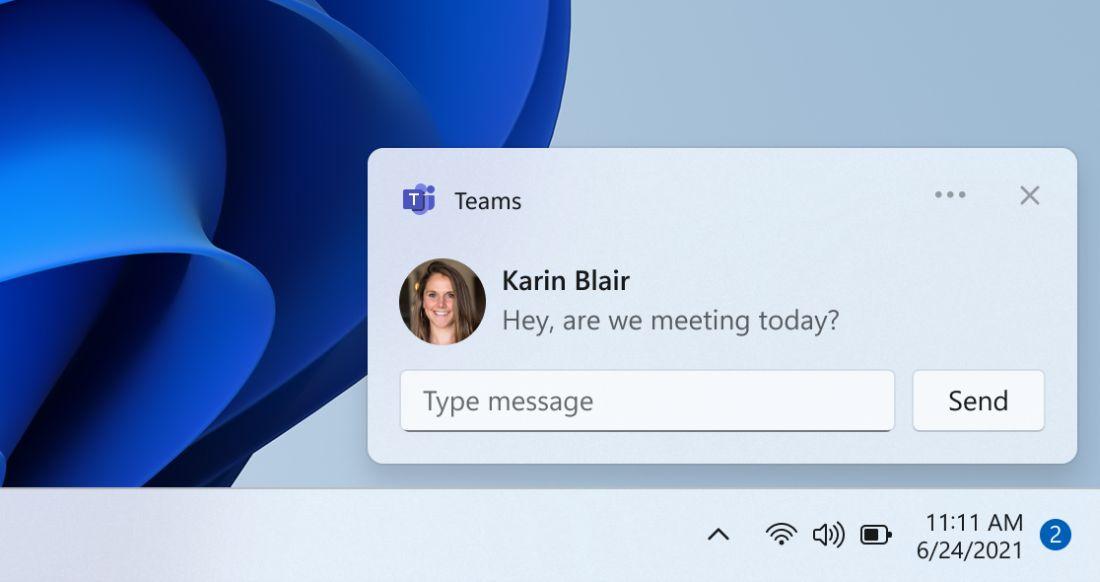 В Windows 11 добавили приложение «Чат» на основе платформы Microsoft Teams