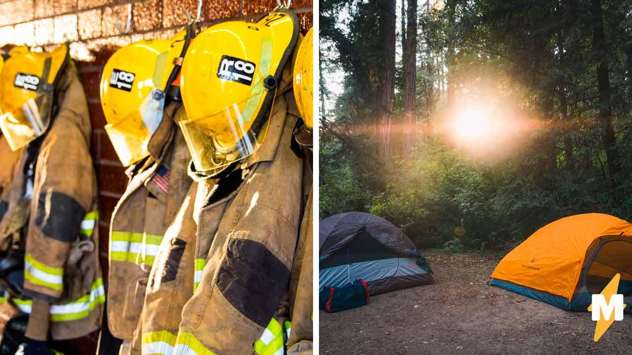 Друзья разбили палаточный лагерь, но спасатели увидели где — и поседели. Один вид этого места вызывает дрожь