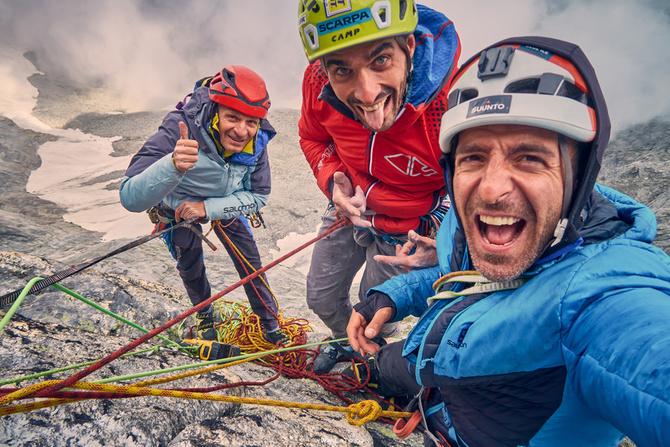 Итальянцы и новый маршрут 'RücknRoll' (500 m, ED+, 7b+) на вершину Миттельрюк (Mittelrück)