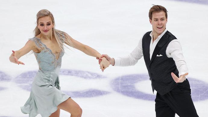 Синицина и Кацалапов стали победителями этапа Гран-при в Москве в танцах на льду