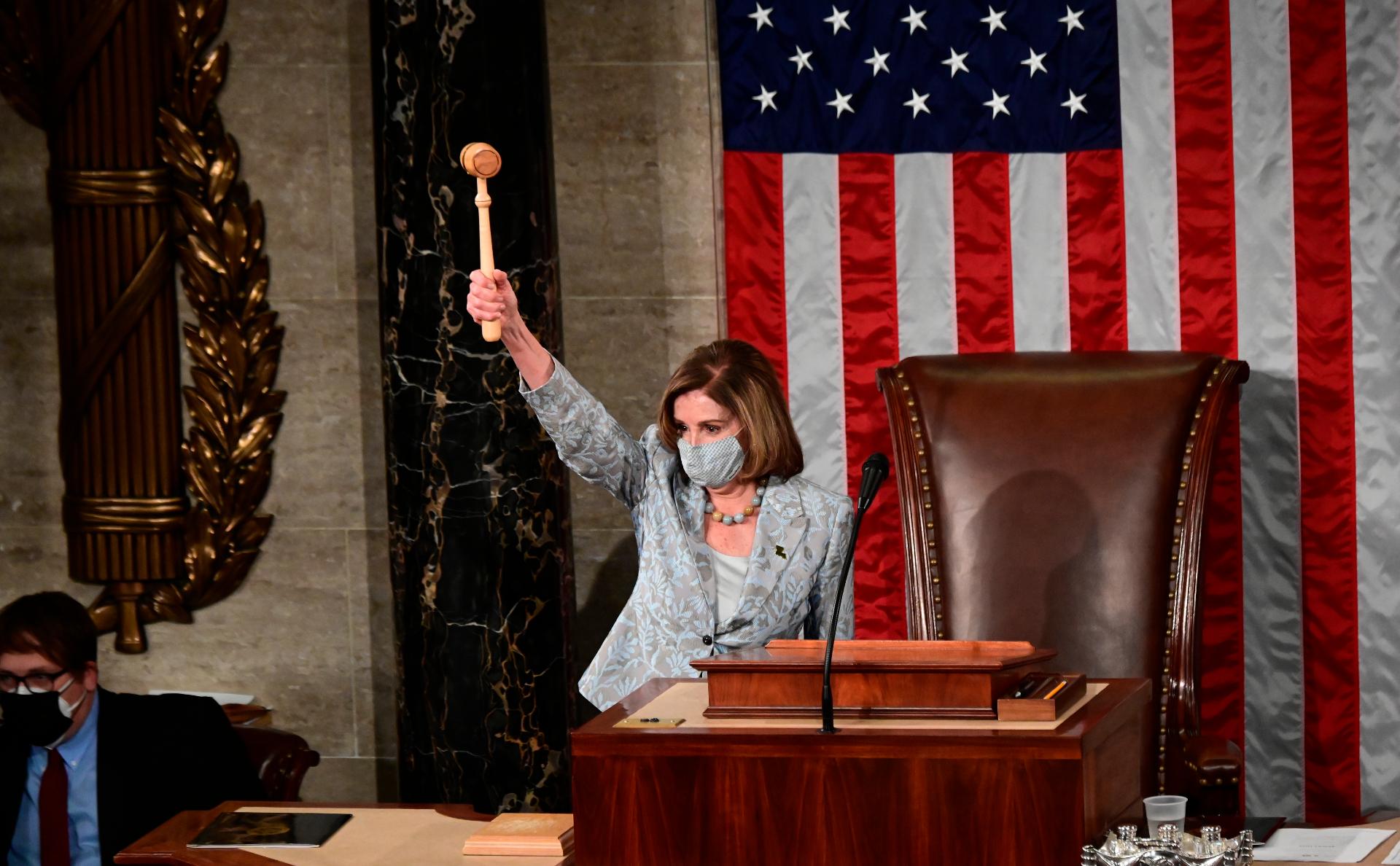 Пелоси в четвертый раз возглавила палату представителей США