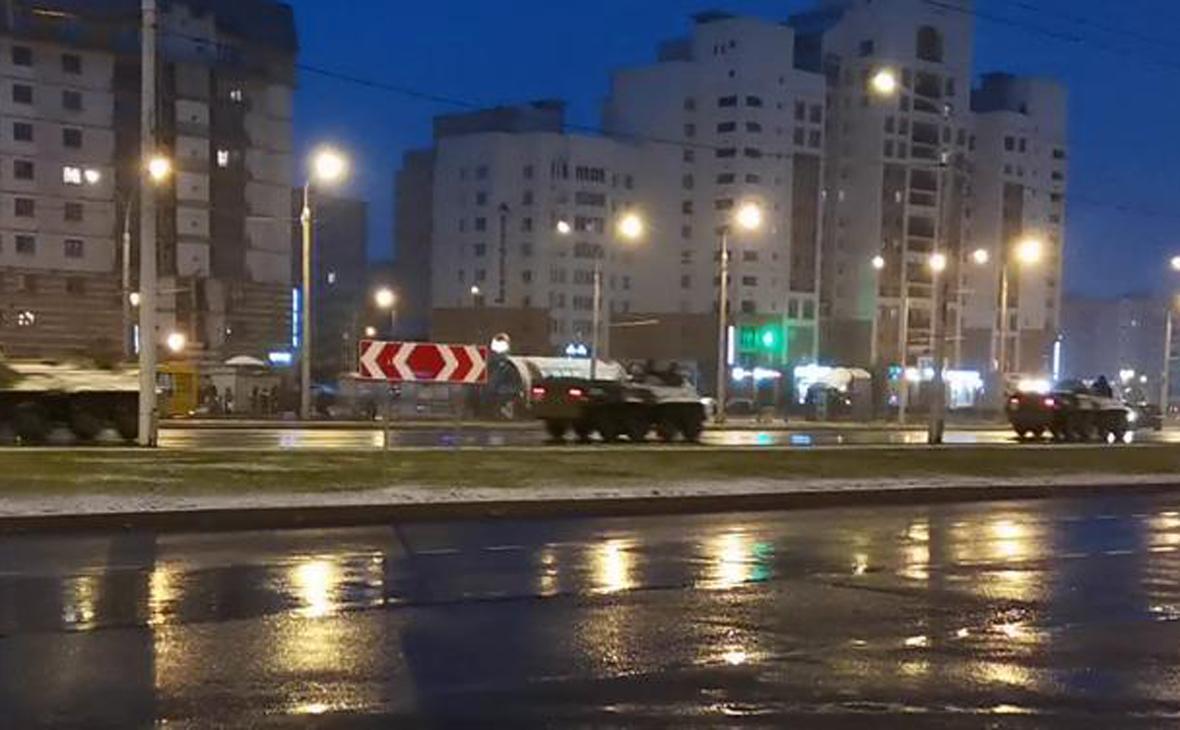 В Минске заметили спецтехнику